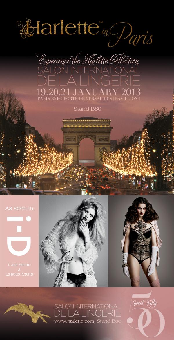 Harlette Paris Salon International de la Lingerie Invite JetSet